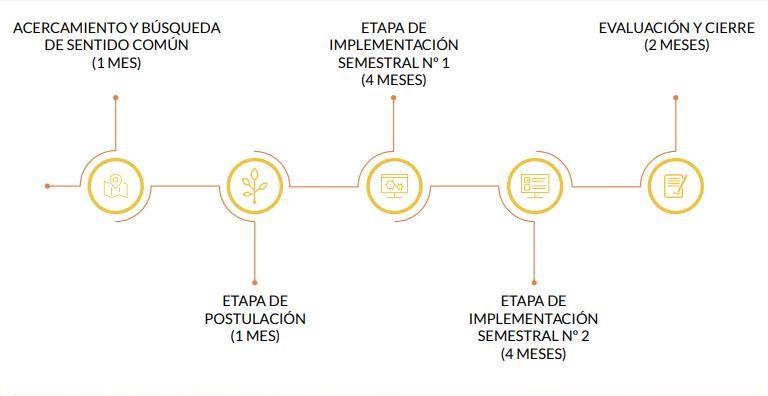 Etapas de implementación del programa socioeducativo